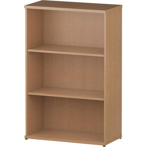 Medium Bookcase with 2 Shelves H1200mm Oak