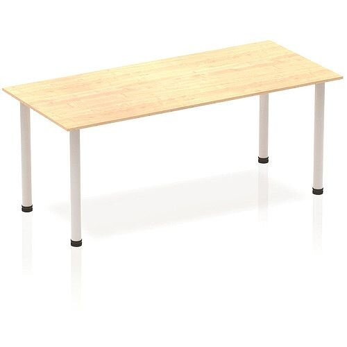 Rectangular Table Maple with Silver Frame 1800x800mm