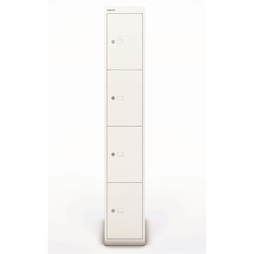 Bisley Steel Locker 457mm Deep 4 Door Chalk White