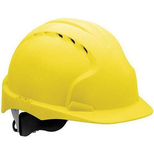 JSP EVO3 Revolution Vented Wheel Ratchet Helmet Yellow - Pack of 1