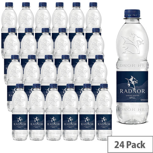 Radnor Natural Mineral Still Water Drink Bottled 500ml Pack of 24