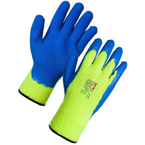 Supertouch Topaz Ice Plus Medium Acrylic Gloves Yellow/Blue