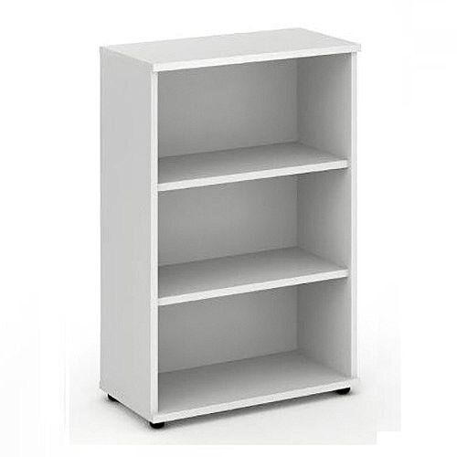 Medium Bookcase with 2 Shelves H1200mm White