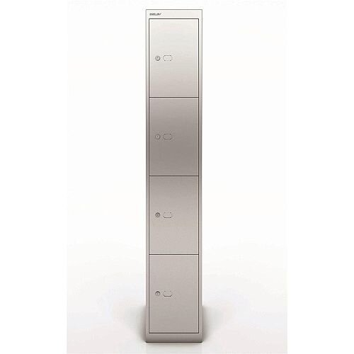 Bisley Steel Locker 457 Four Door Silver