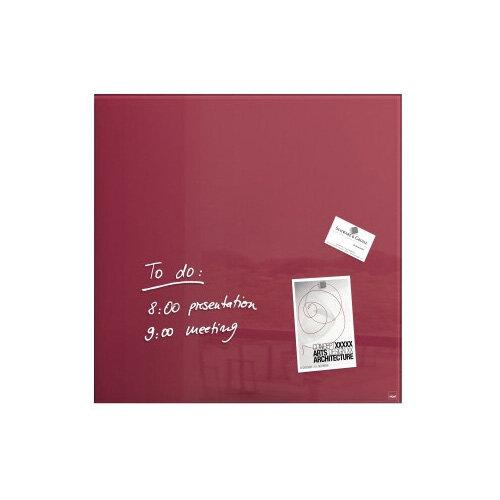 Sigel Magnetic Glass Board Artverum 480x480x15mm Berry Red GL272