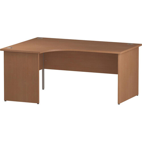 L-Shaped Corner Left Hand Panel End Office Desk Beech W1800mm