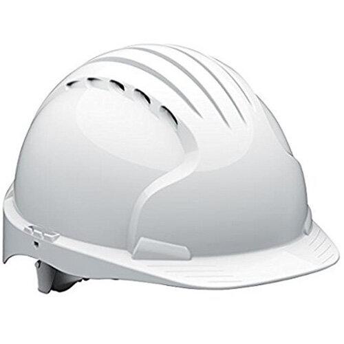 JSP EVO5 Olympus Wheel Ratchet Vented Hard Hat White
