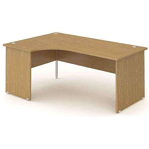 L-Shaped Corner Left Hand Panel End Office Desk Oak W1800mm