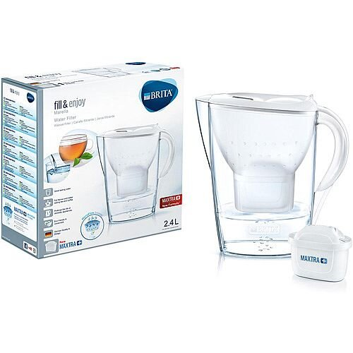 Brita Fill&njoy Marella 2.4 Litre Water Filter Jug MAXTRA+ Filter White