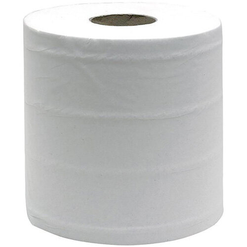 Maxima Centrefeed Cleaning Paper Towels Tissue Rolls 3-Ply 114m White Pack of 6
