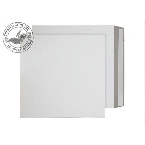 Purely Packaging White Envelopes All Board Peel and Seal 350gsm 444x368mm (Pack of 100)