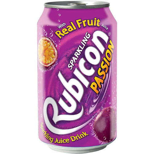 Rubicon 330ml Passion Fruit Flavoured Soft Drink Can Pack of 24
