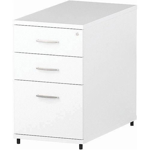 Desk High 800mm Deep Pedestal White
