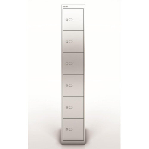 Bisley Steel Locker 457 Six Door Silver