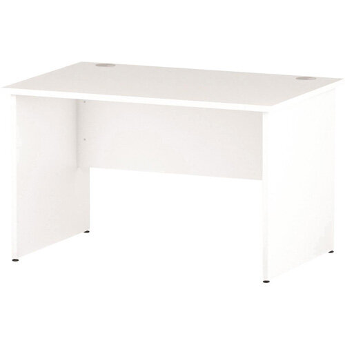 Rectangular Panel End Office Desk White W1200xD800mm