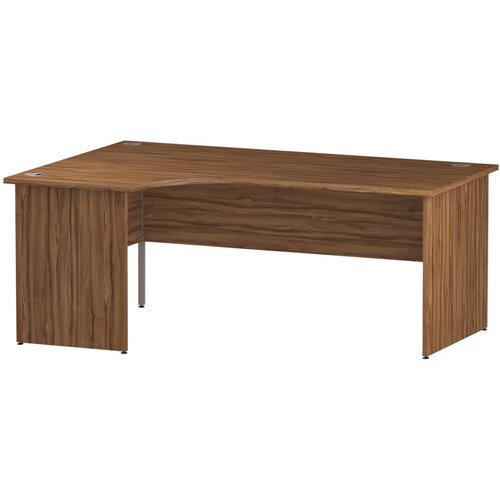 L-Shaped Corner Left Hand Panel End Office Desk Walnut W1800mm