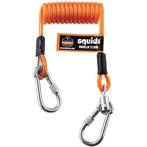 Ergodyne Squids 3130M Coiled Cable Lanyard Medium Orange