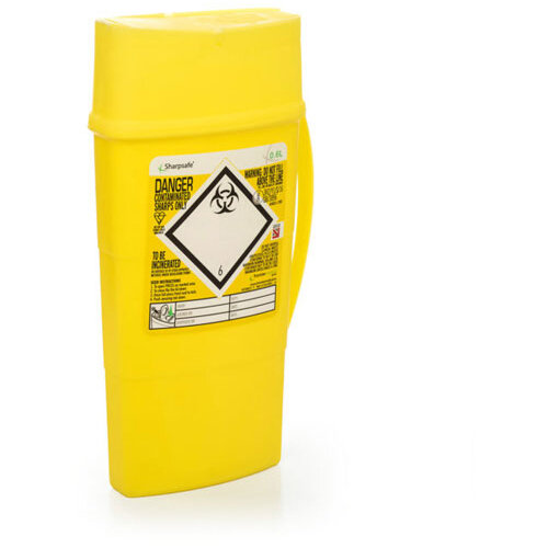 Click Medical Sharpsafe 0.6 Litre Sharps Bin Yellow Ref CM0642