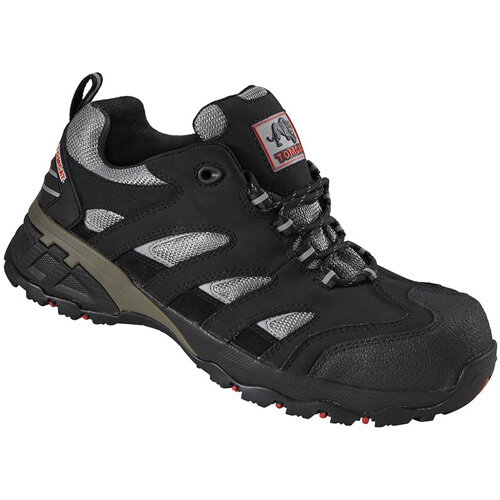 Rock Fall Maine Size 13 Safety Trainer with Fibreglass Toecap and Flexi Midsole Black/Silver