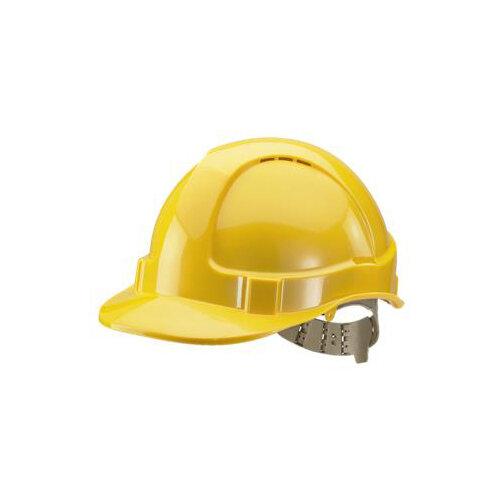 BBrand Comfort Vented Safety Helmet Yellow Ref BBVSHY