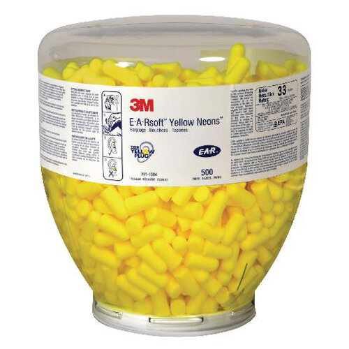 3M E-A-R Soft Yellow Neons Refill Bottle Pack of 500 Earplugs Ref EARSNRBAG