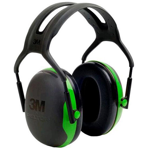 3M PELTOR X1A Headband Ear Defender Headset SNR27 Black &Green Ref X1A