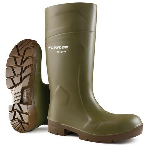 Dunlop Purofort Multigrip Safety Wellington Boots Size 10 Green Ref CA6183110