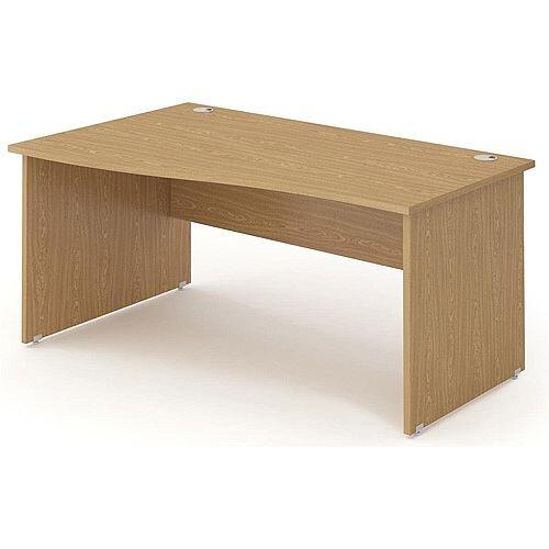 Wave Panel End Left Hand Office Desk Oak W1400mm