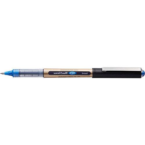 Uni-ball UB-150-10 Eye Broad Rollerball Pen 1.0mm Tip Blue Ref 246967000 Pack of 12