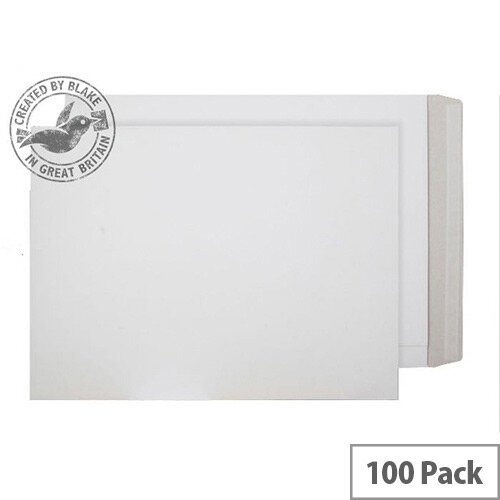 Purely Packaging White  Envelopes All Board Peel and Seal 350gsm 508x381mm (Pack of 100)