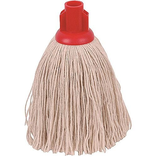 Robert Scott &Sons Socket Mop Head Twine for Rough Surfaces 12oz Red [Pack 10]