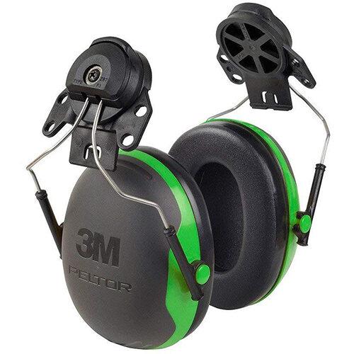 3M PELTOR X1P3 Helmet Mounted Ear Defender Headset SNR26 Black &Green Ref X1P3