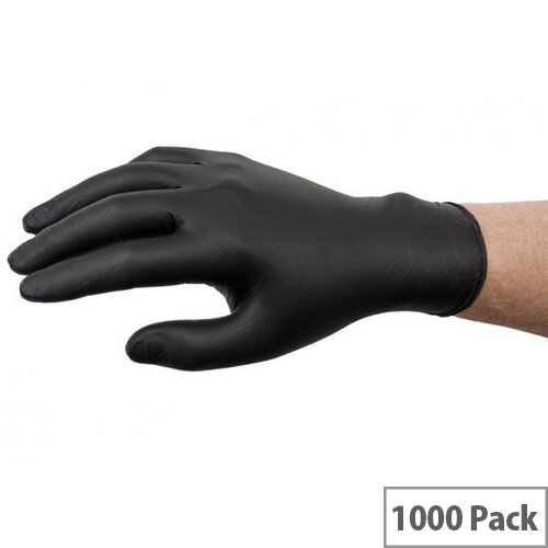 Ansell Microflex 93-852 Size 10 XL Nitrile Single Use Protective Gloves Black Pack of 1000 Ref AN93-852XL