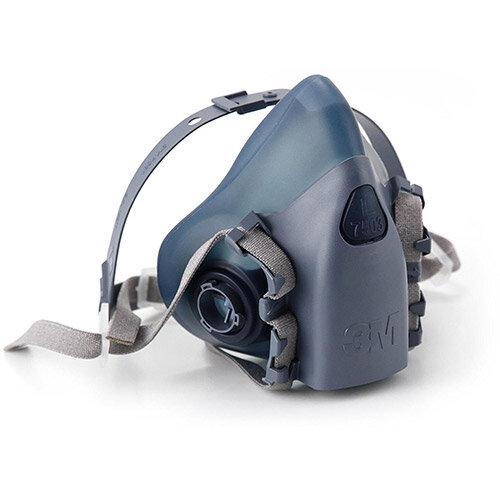 3M 7500 Series 7503 Reusable Half Face Mask Large Grey/Blue