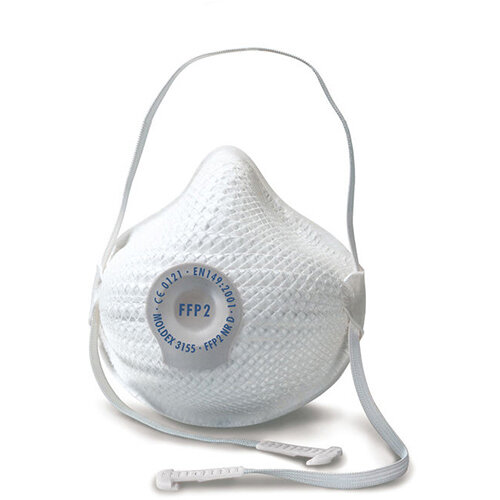 Moldex FFP2 Mask Valve Small/Medium White Ref M3155 Pack of 10