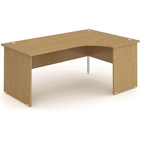 L-Shaped Corner Right Hand Panel End Office Desk Oak W1800mm
