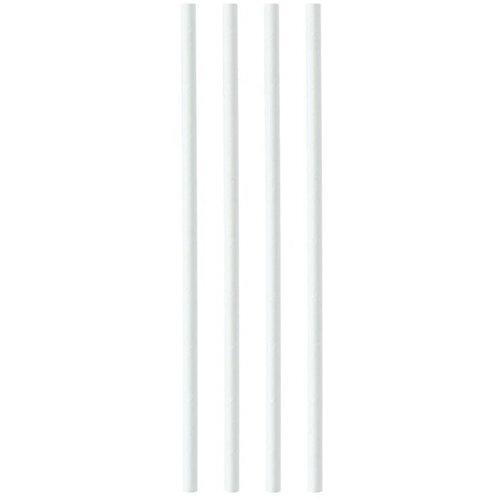 Plastico Paper Straws 8mmx200mm White Ref 398WHPAPER Pack of 250