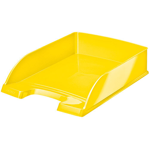Leitz WOW Letter Tray Stackable Glossy Yellow Pack of 5 Ref 52263016