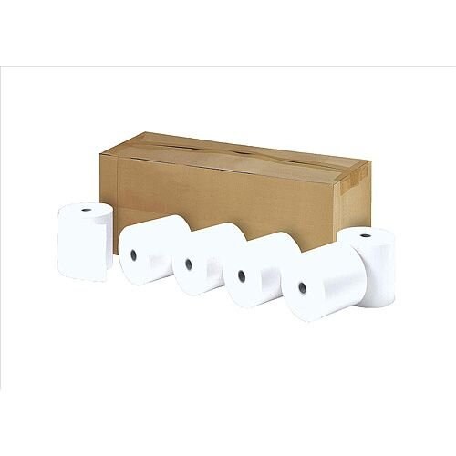 Thermal Printer Paper on a Roll 58g/m2 57x38x12.7mm 1 x Pack of 20 Rolls