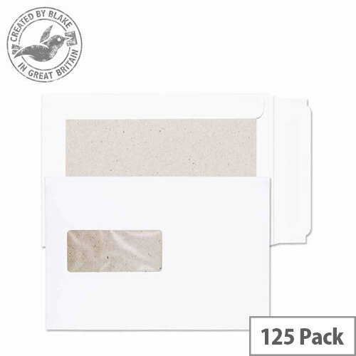 Purely Packaging C5 White Envelopes Board Backed Peel and Seal 120gsm(Pack 125)