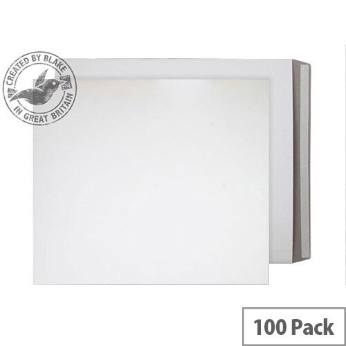 Purely Packaging White Envelopes All Board Peel and Seal 350gsm 525x460mm (Pack of 100)