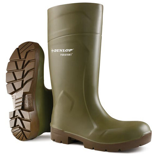 Dunlop Purofort Multigrip Safety Wellington Boots Size 12 Green Ref CA6183112