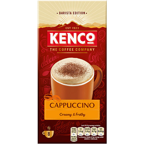 Kenco Cappuccino Instant Sachet Ref 4031817 (Pack 8 x 5 Boxes)