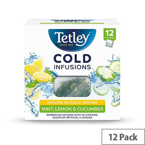 Tetley Cold Infusions Mint Lemon &Cucumber Ref 1603A Pack of 12