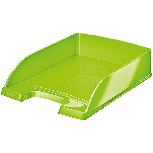 Leitz WOW Letter Tray Stackable Glossy Green Ref 52263054