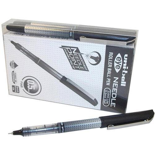 Uni-ball UB-185S Eye Needle Rollerball Pen 0.5mm Tip Black Ref 125930000 Pack of 12