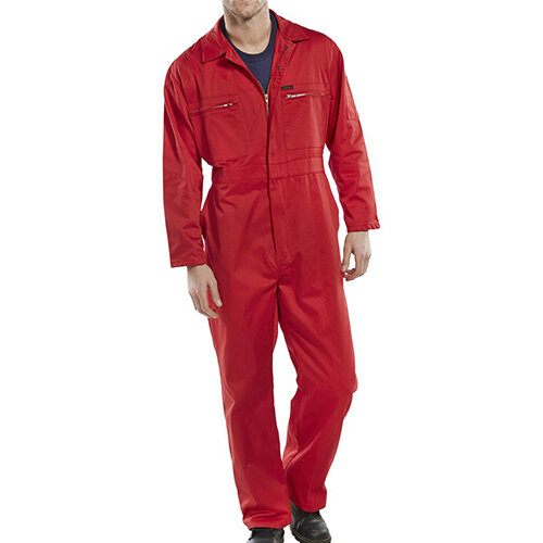 Super Click Workwear Heavy Weight Boiler Suit Work Overall Size 52 Red Ref PCBSHWRE52