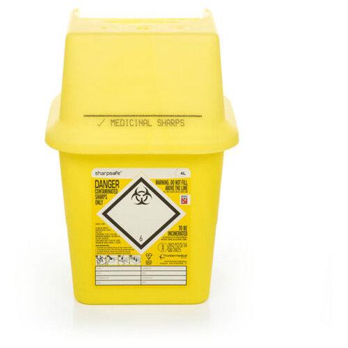 Click Medical Sharpsafe 4 Litre Sharps Bin Yellow Ref CM0645