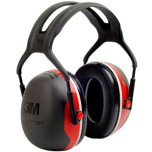 3M PELTOR X3A Headband Ear Defender Headset SNR33 Black &Red Ref X3A