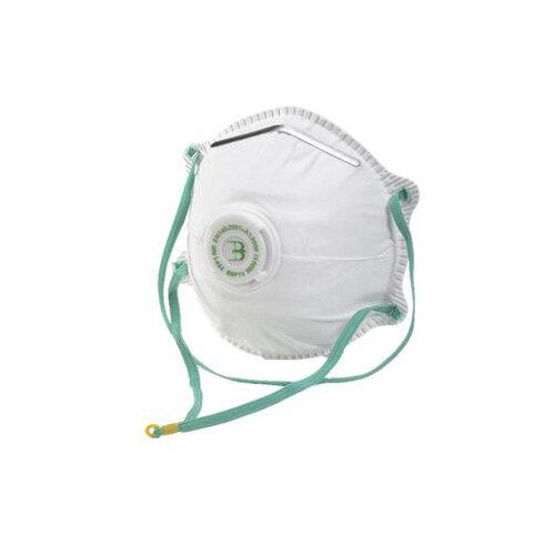 B-Brand P1 Valve Mask Collapse Resistant Double Shell White Pack of 10 Ref BBP1V